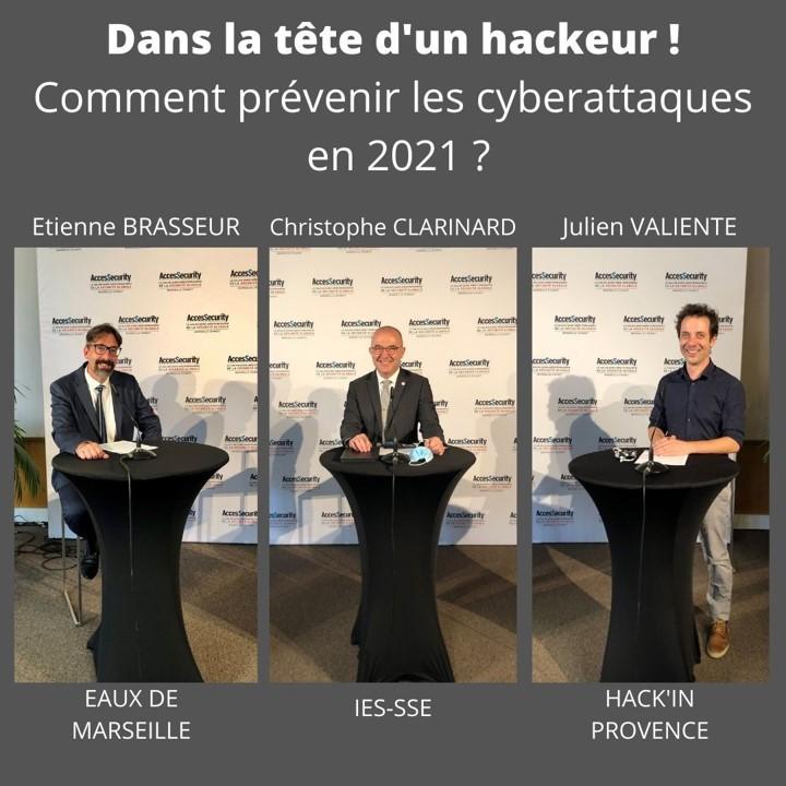 Avec Julien VALIENTE (HackInProvence), Etienne BRASSEUR (Eaux de Marseille) et Christophe CLARINARD (IESSSE Conseil & Formations)